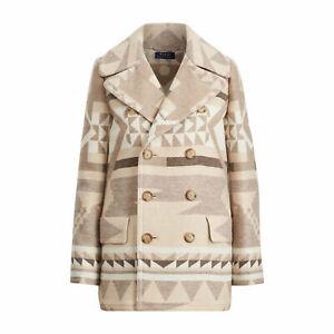 Double Ralph Lauren Wool Polo Breasted Southwestern Details Peacoat Jacket About698 Womens SpGUqMVz