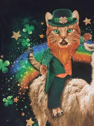 KITTY Cat Kitten UNICORN llama Shamrock LEPRECHAUN Irish GOLD hat MEN/'S T-Shirt