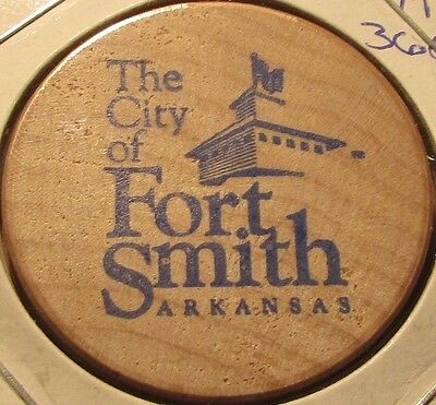 the city of fort smith ar transit bus wooden nickel token arkansas ebay ebay