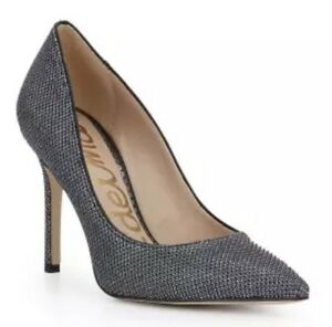 133c57a0207 Sam Edelman Hazel Women s Silver Pointed Toe Pumps Sz 10M 2250