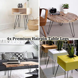 Details About 4x Iron Table Legs Set Bar Diy Hairpin For Dining Coffee Desk Metal Leg Uk