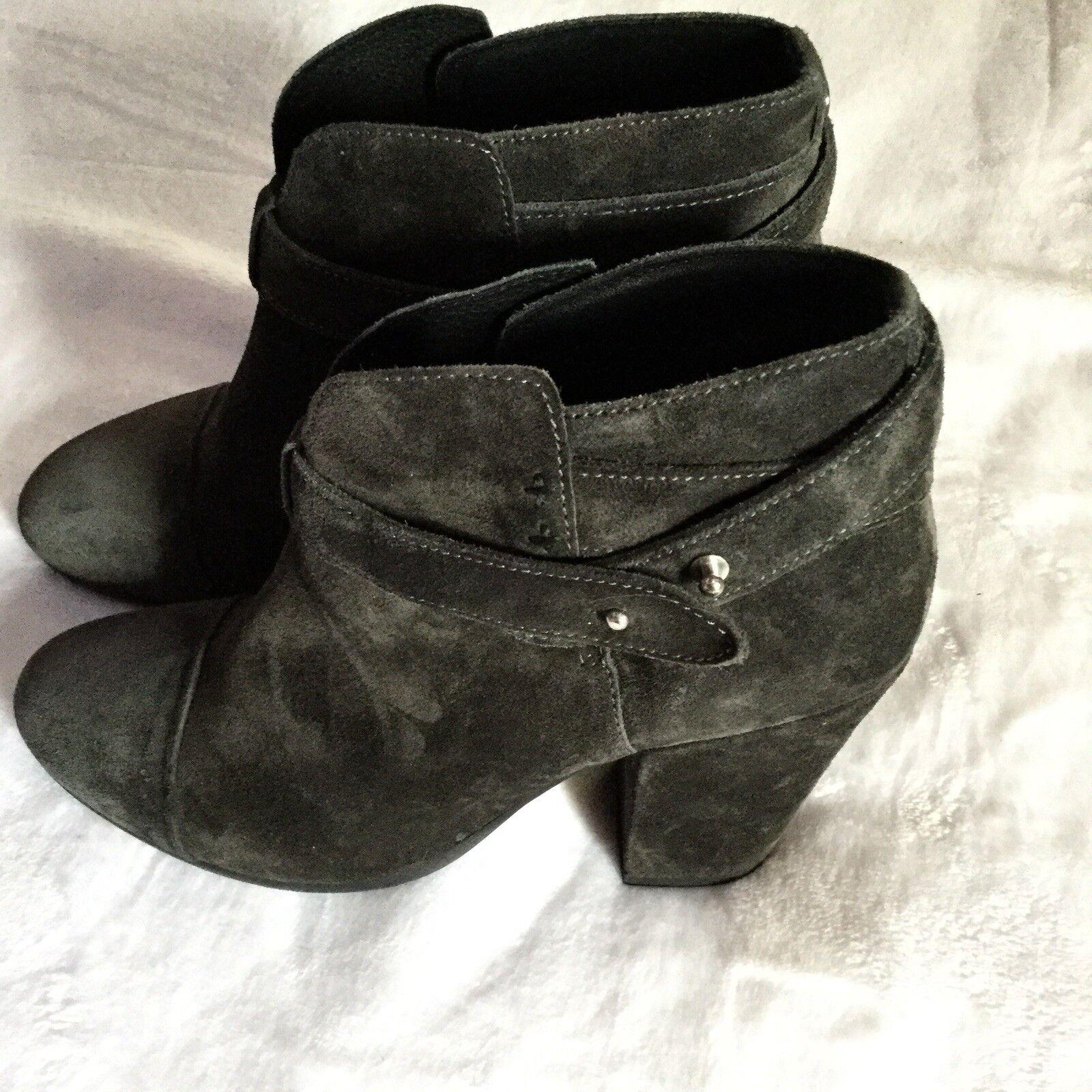vendita outlet online Rag & Bone 'Harrow' Suede Suede Suede Leather avvio Dark grigio 39 MSRP  495  migliore marca