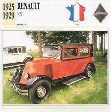 1925-1929 RENAULT NN Classic Car Photograph / Information Maxi Card