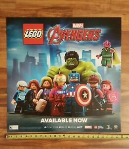 LEGO-MARVEL-AVENGERS-2016-Video-Game-Store-Display-Promo-Sign-24x24