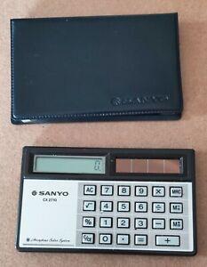 VTG-Sanyo-cx2710-Pocket-Calculator-Foldable-Working-Hard-To-Find
