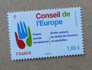 2016-FRANCE-COUNCIL-OF-EUROPE-STAMP-ISSUE-MINT-STAMP