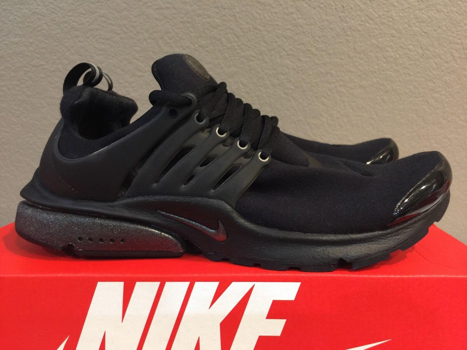 Nike Air Presto TP QS Tech Fleece Triple Black Size M (M 10-11) [812307 001]