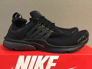 d14d4581fdba Nike Air Presto TP QS Tech Fleece Triple Black Size M (M 10-11 ...