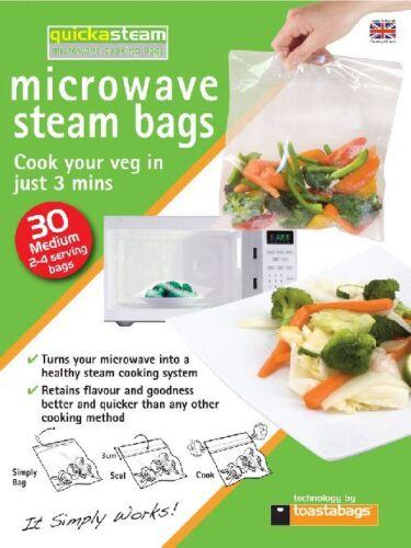 2 Packs toastabags 30 Support micro-ondes Vapeur Sacs Cook 2-4 Sac servir QSM30PPX2