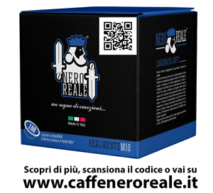 200 CAPSULE CAFFE NERO REALE MISCELA DEKA COMPATIBILI LAVAZZA A MODO MIO