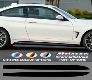 For-BMW-M4-F82-F83-M-PERFORMANCE-VINYL-Side-Skirt-STICKERS-Stripes-Decals