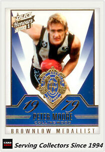 2014-Select-AFL-Honours-Brownlow-Gallery-Card-BG30-Peter-Moore-Collingwood