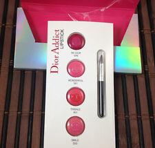DIOR ADDICT Hydra-Gel Mirror Shine Lipstick 4 samples Be Dior, Wonderful,Smile +