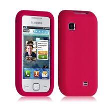 Housse coque silicone pour Samsung Wave 575 S5750 couleur rose fuhsia