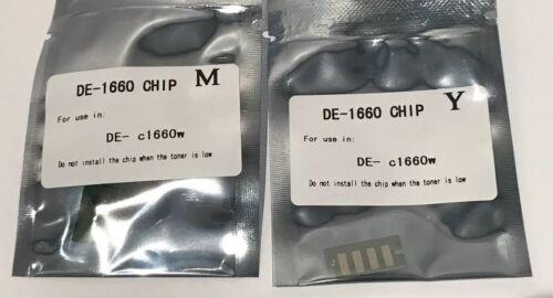 4 x Toner Chip BCMY for Dell C1660 C1660W C1660CN C1660CNW Printer Refill