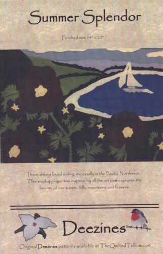 DIY Wool Appliqué Pattern Deezines Quilt Patterns Landscape Summer Splendor