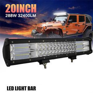 7D-Tri-Row-20-039-039-540W-Combo-LED-Work-Light-Bar-Spot-Flood-Truck-Boat-SUV-UTE