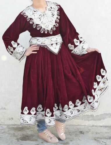 80s RARE AFGHAN NOMAD VINTAGE KUCHI DRESS ANTIQUE