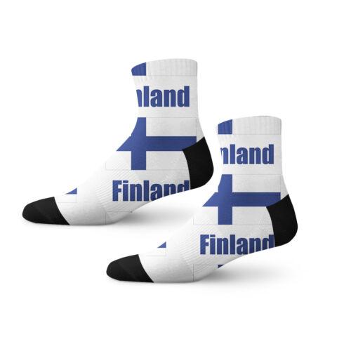 Finland Country Flag Fun Cool Novelty 3.5 in Men Women Socks
