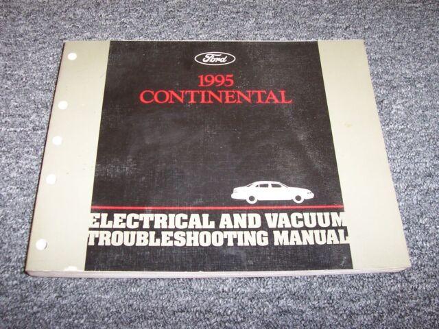 1995 Lincoln Continental Sedan Electrical Wiring  U0026 Vacuum Diagram Manual 4 6l V8