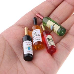 1-12-6x-Bouteilles-De-Vin-Miniatures-et-4x-Miniature-Tasse-Poupee-Verres