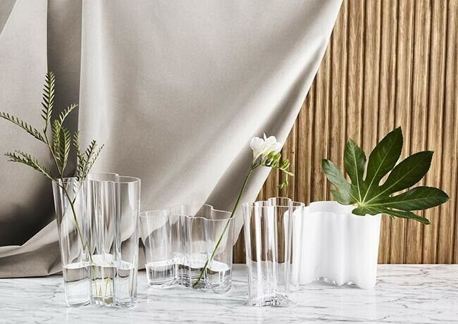 Glas, Vase - Skulptur, Alvar Aalto - Savoy - Opal 12