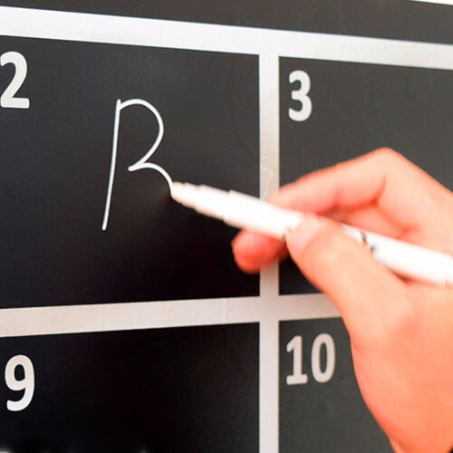 1 Stück Marker Flüssigkreide Stift Chalkpen Premium Textilstift Kreidestift Weiß