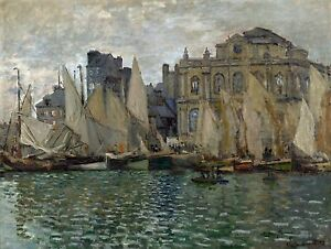 CLAUDE-OSCAR-MONET-Painting-Poster-or-Canvas-Print-034-The-Museum-at-Le-Havre-034