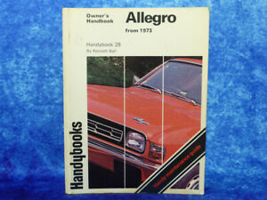 Handybooks ALLEGRO Owner's Handbook PB Book by Kenneth Ball from 1973 Austin #28