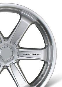 Voiture-6x-roue-alliage-autocollant-fits-renault-megane-sticker-autocollant-adhesif-PT103