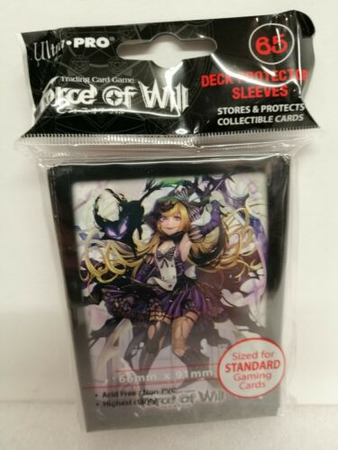 65 Deck Protector Sleeves Standard ; Force of Will Dark Alice Ultra Pro