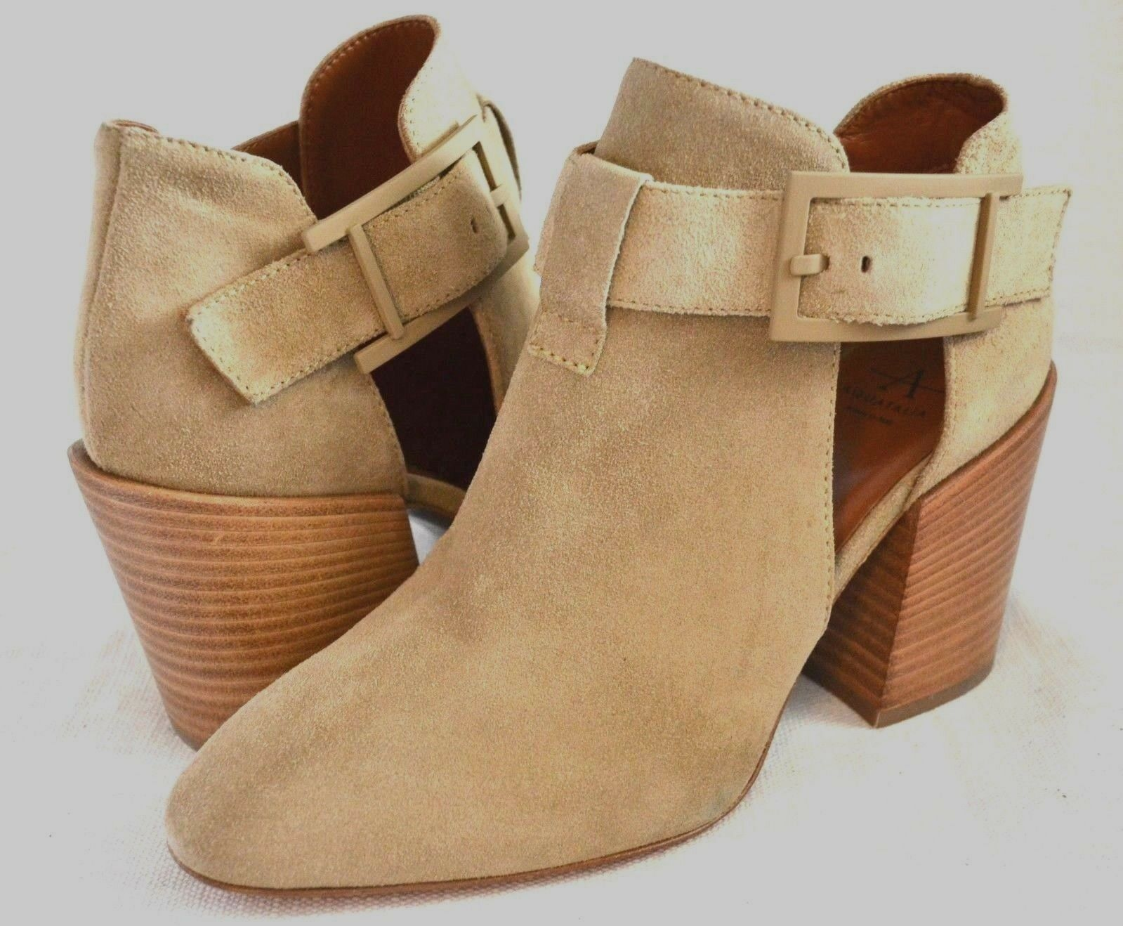 la red entera más baja Aquatalia Frojodi Wohombres Ankle botaies botaies botaies Sand Suede Talla 7 Made In  New