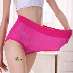 7b0100284 4XL Plus 80-120kg Women Modal Briefs Panties Seamless High Waist ...
