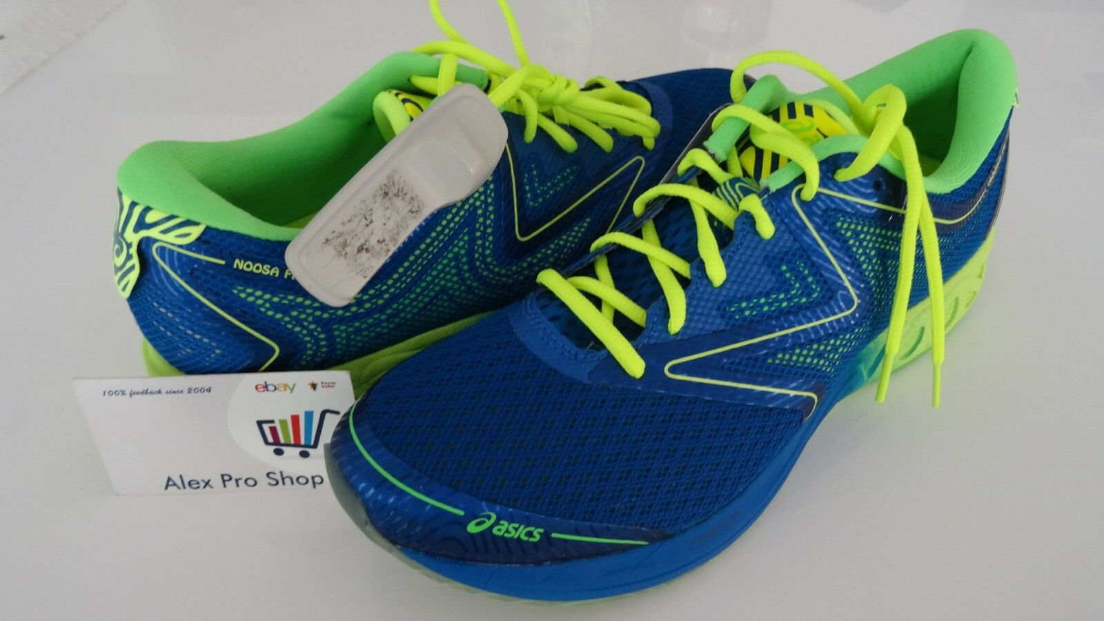 New Uomo Size 8 ASICS NOOSA FF Imperial/Safety Yellow/Green Gecko T722N 4507