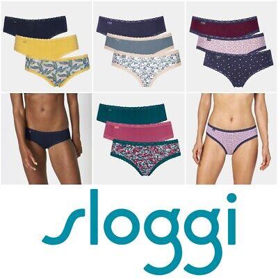 Sloggi 3 Pack Weekend Tai Brief Knickers 1018149 Womens Lingerie Pack of 3
