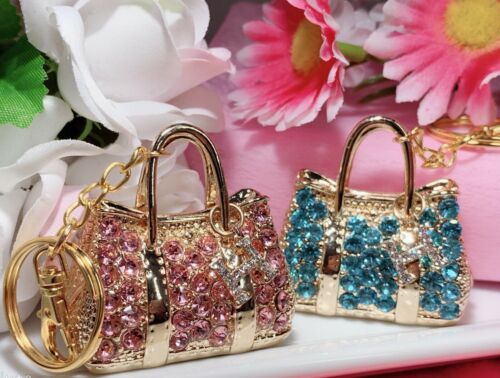Purse keychain Snap keychain Pink Handbag keychain Kawaii keychain