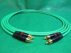 15 Ft Pair Canare L4e6s Green Star Quad Rca To Rca Hifi Audio Cable. Facile à Lubrifier