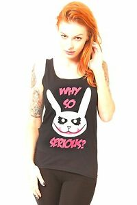 WHY-SO-SERIOUS-JOKER-BUNNY-WOMENS-BLAK-VEST-TOP-HEATH-LEDGER-BATMAN-BAT-CUTE-EMO