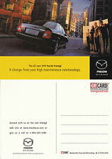 1999 MAZDA PROTEGE ADVERTISING UNUSED COLOUR POSTCARD (a)