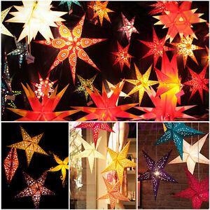 60cm pentagram lampshade paper star lantern hanging star colourful image is loading 60cm pentagram lampshade paper star lantern hanging star aloadofball Images