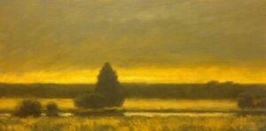 Summer-Gold-American-Pastoral-Oil-Painting-Landscape-Signed-Art-New-Original-New