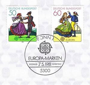 BRD-1981-Europa-Folklore-Nr-1096-1097-mit-Bonner-Ersttagssonderstempel-1A