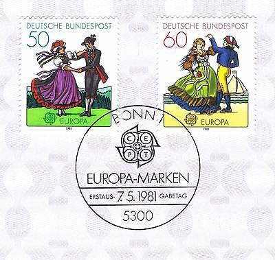 Brd 1981: Europa: Folklore Nr. 1096+1097 Mit Bonner Ersttagssonderstempel 1a 154 Gute QualitäT