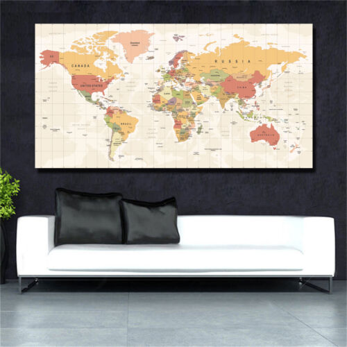 World Map High Definition Poster Printing Home Decor
