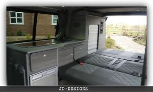 Details about VW TRANSPORTER T4 T5 SWB CAMPER VAN KITCHEN UNIT GREY  DRIFTWOOD LIGHTWEIGHT PLY