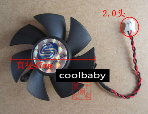 A5010S12S Graphics card cooling fan DC12V 0.18A 2Pin