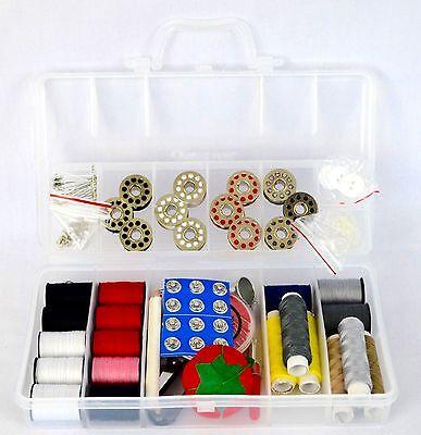 Sunbeam Hand Sewing Kit 100 Pcs Crafts Mini Travel Sewing Supplies Bag Scissors