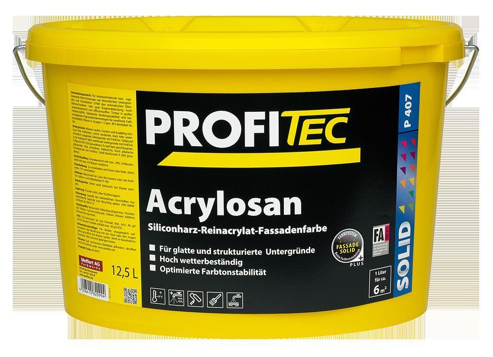 ProfiTec Acrylosan P407 2,5l = /l Fassadenfarbe im wunschton gegen Algen