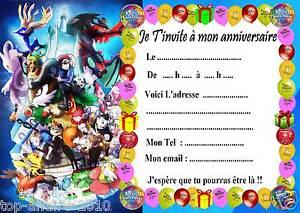 Relativ 5 cartes invitation anniversaire Pokemon X & Y 028 d'autres en  CM99