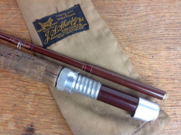 Amichevole Sharpe's Scottie Aberdeen Vintage Volo Pesca Trota Canna Pesca Sportiva